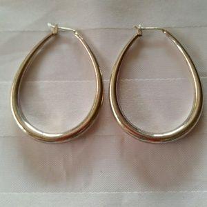 925 Silver Hoop Circle Creo Earrings